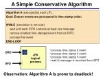 a simple conservative algorithm