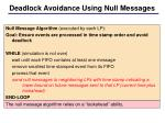 deadlock avoidance using null messages1