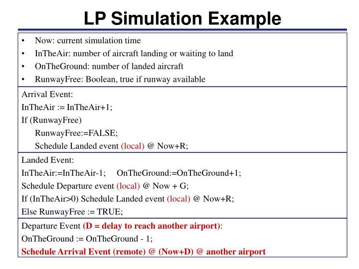 LP Simulation Example