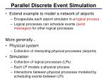 parallel discrete event simulation