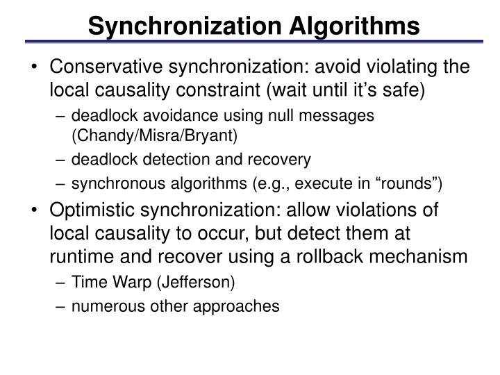 Synchronization Algorithms