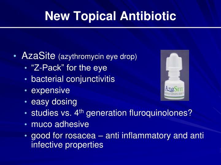 New Topical Antibiotic