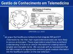 gest o de conhecimento em telemedicina