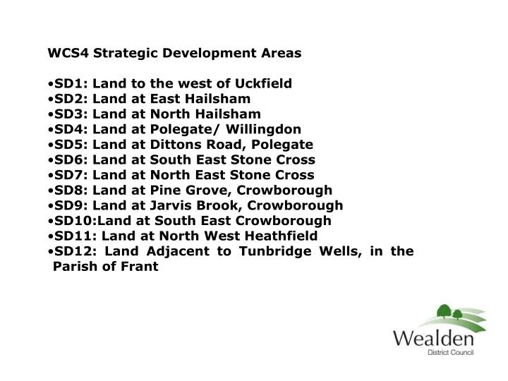 WCS4 Strategic Development Areas