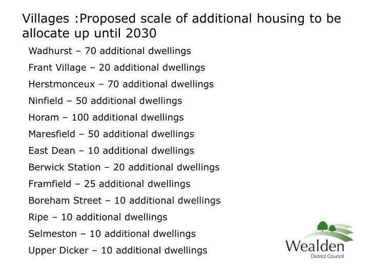 Wadhurst – 70 additional dwellings