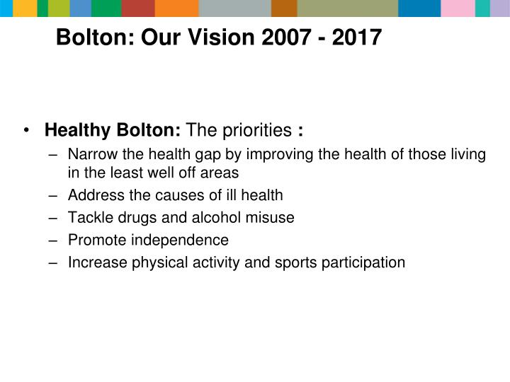 Bolton: Our Vision 2007 - 2017