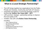 what is a local strategic partnership