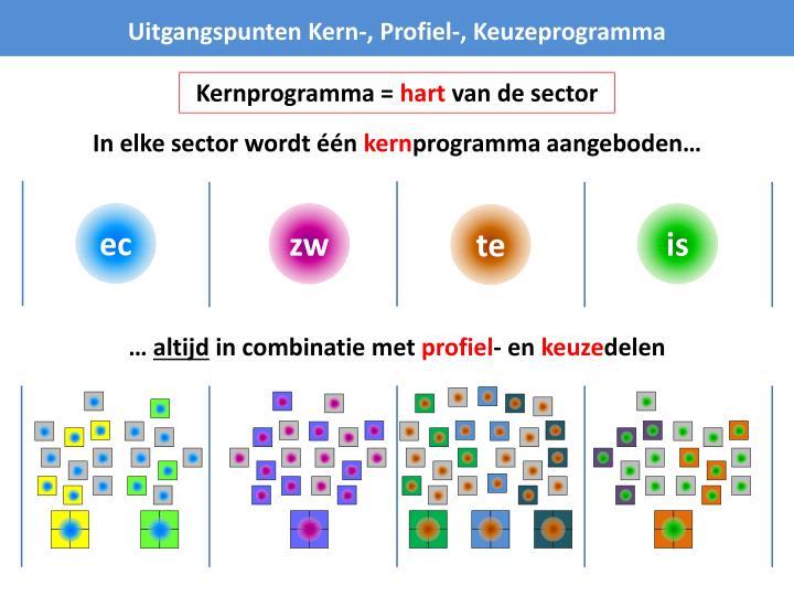 Uitgangspunten Kern-, Profiel-, Keuzeprogramma