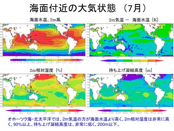 海面付近の大気状態 (