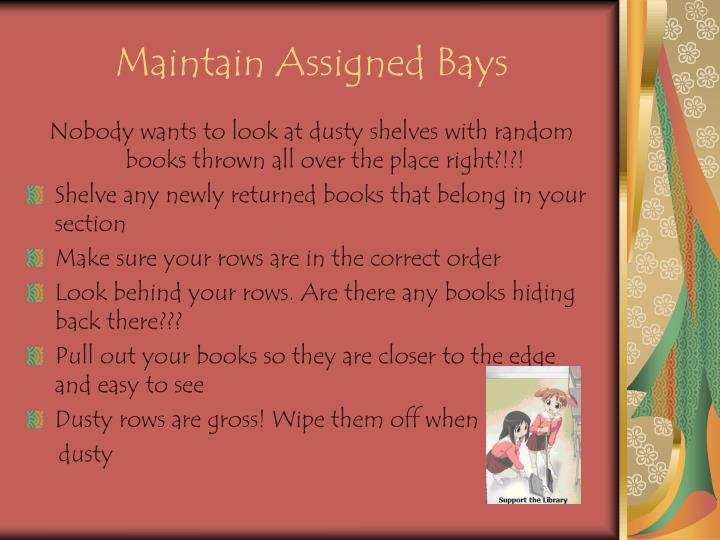 Maintain Assigned Bays