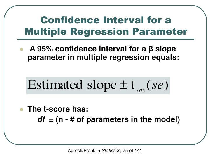 Confidence Interval for a Multiple Regression Parameter