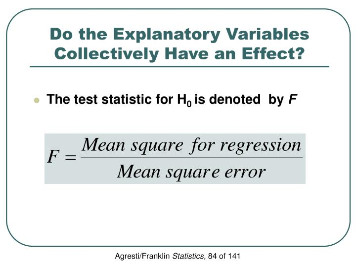 Do the Explanatory Variables Collectively Have an Effect?