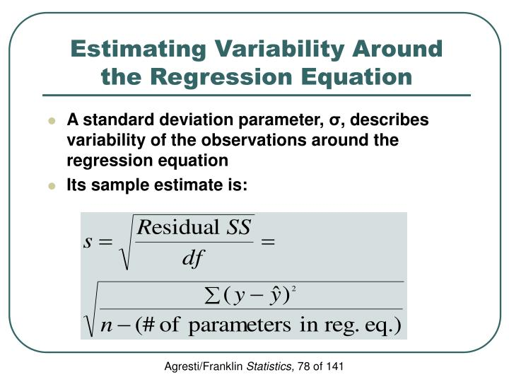 Estimating Variability Around the Regression Equation