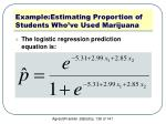 example estimating proportion of students who ve used marijuana4
