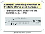 example estimating proportion of students who ve used marijuana6