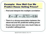 example how well can we predict house selling prices3