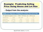 example predicting selling price using house and lot size1