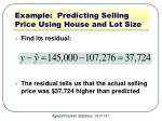 example predicting selling price using house and lot size4