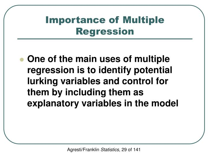 Importance of Multiple Regression
