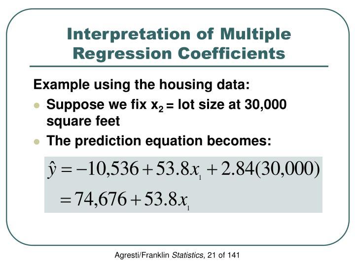 Interpretation of Multiple Regression Coefficients