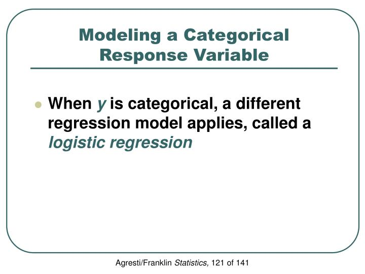 Modeling a Categorical Response Variable