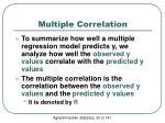 multiple correlation