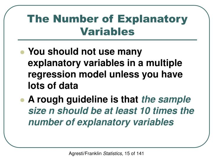 The Number of Explanatory Variables
