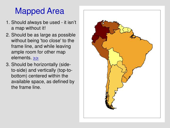 Mapped Area