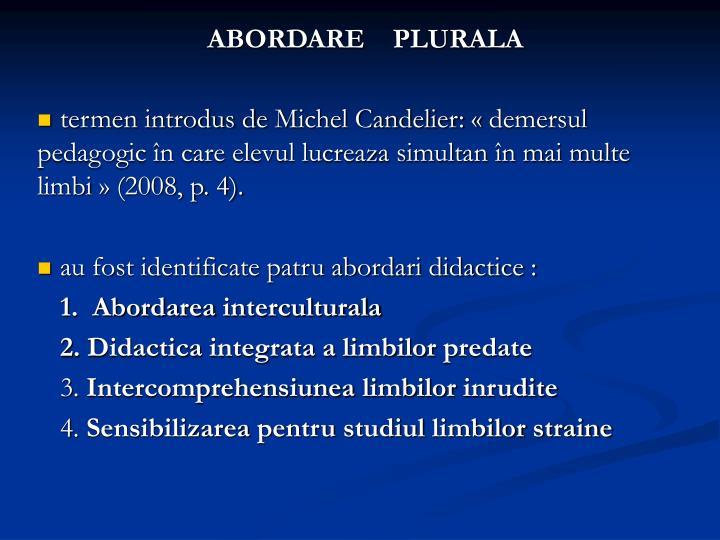ABORDARE    PLURALA