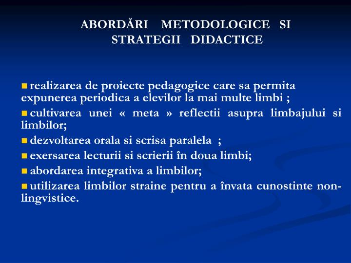ABORDĂRI    METODOLOGICE   SI
