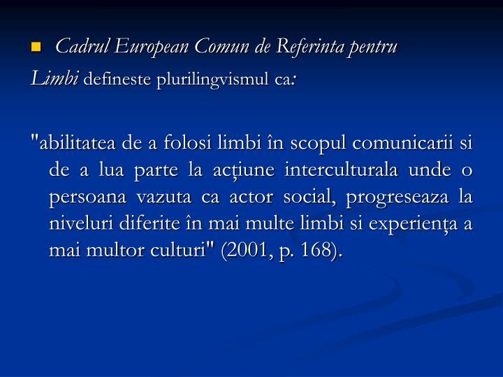 Cadrul European Comun de Referinta pentru
