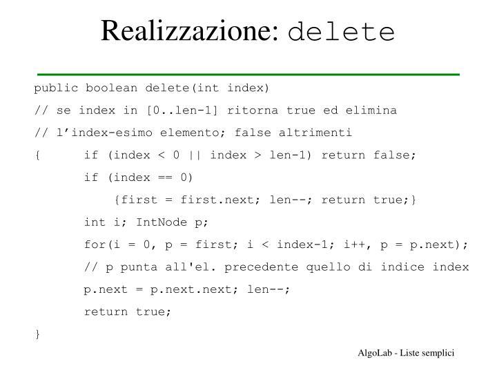 Realizzazione: