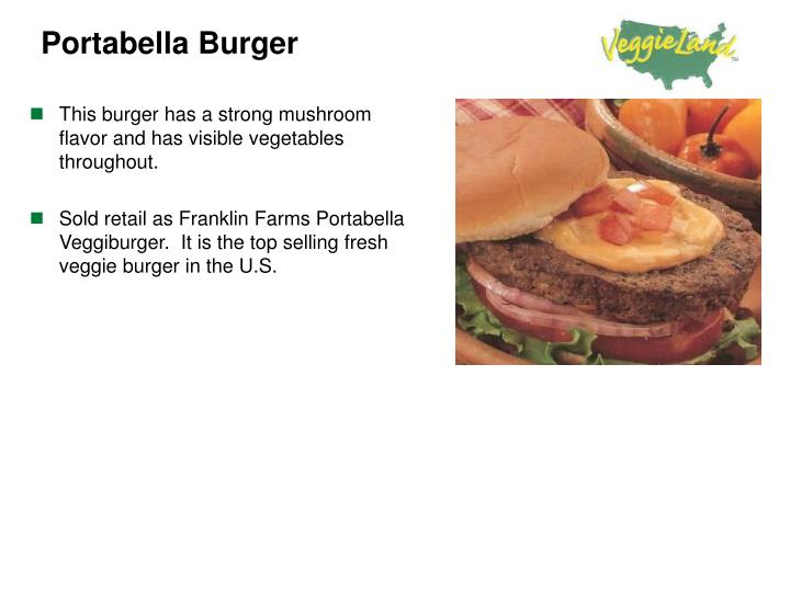 This burger has a strong mushroom flavor and has visible vegetables throughout.