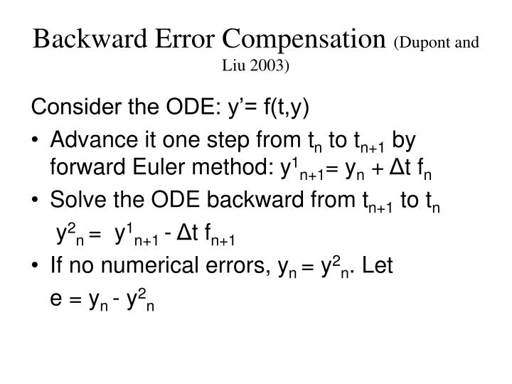 Backward Error Compensation