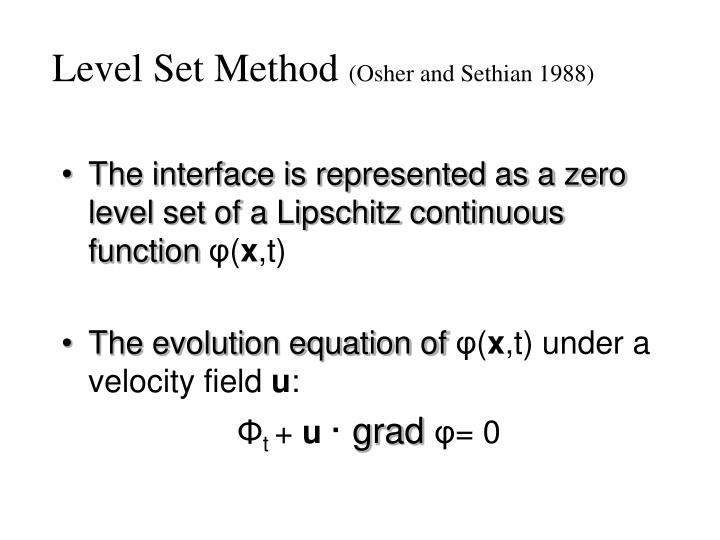 Level set method osher and sethian 1988