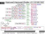 improved improved divider 01110100 1001