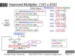 improved multiplier 1101 x 01011