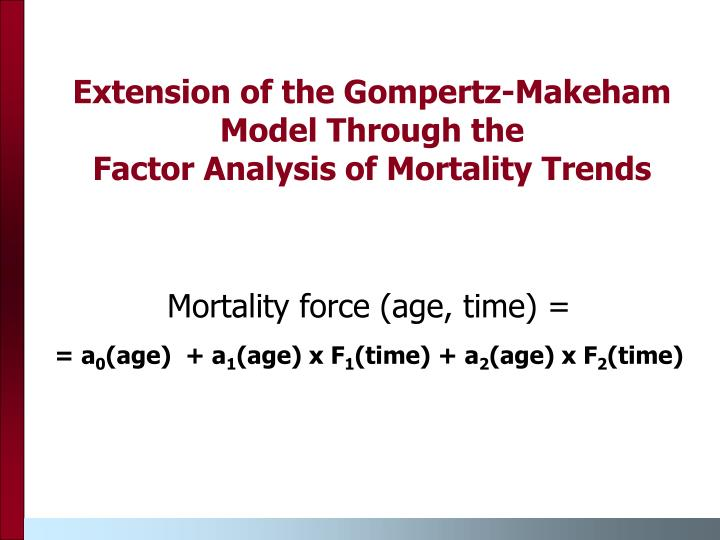 Extension of the Gompertz-Makeham Model Through the
