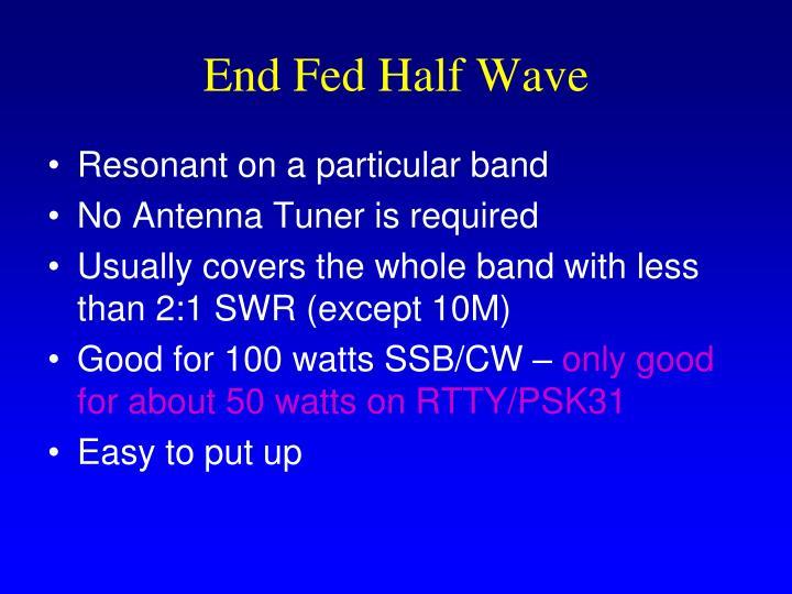 End Fed Half Wave
