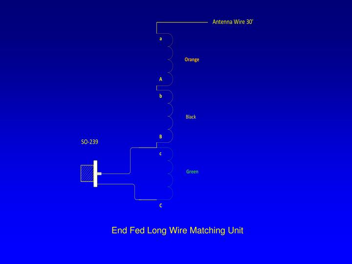 End Fed Long Wire Matching Unit