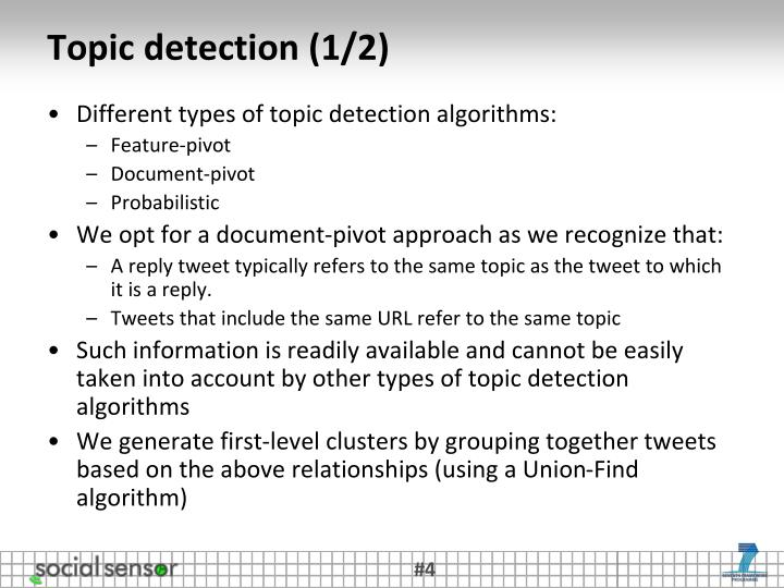 Topic detection (1/2)
