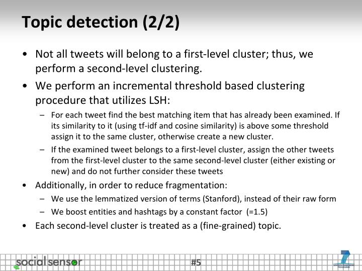 Topic detection (2/2)