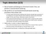 topic detection 2 2