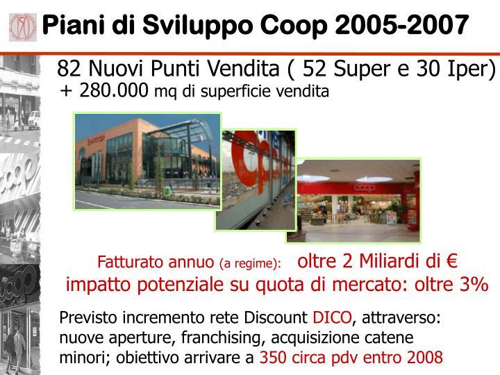 Piani di Sviluppo Coop 2005-2007