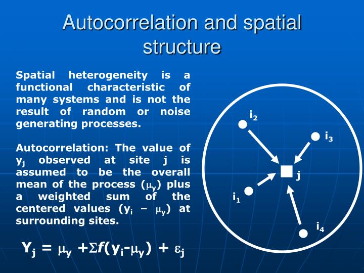 Autocorrelation and spatial structure