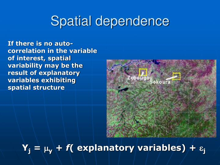 Spatial dependence