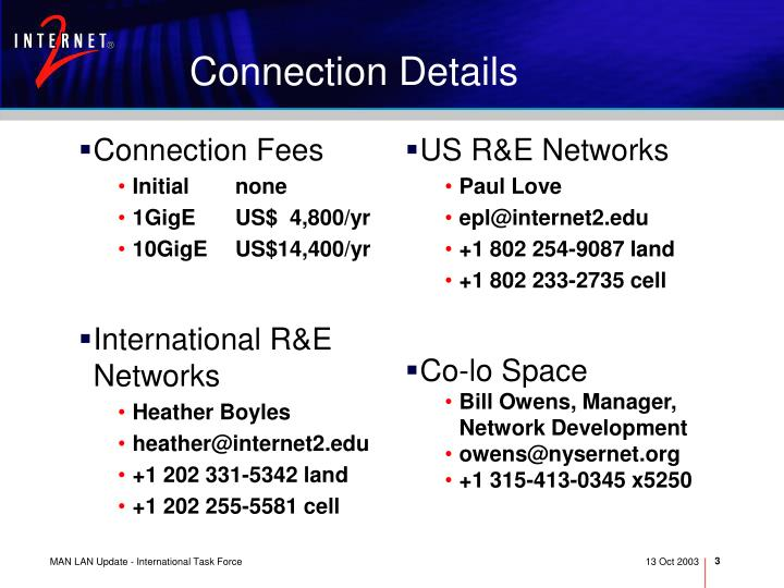 Connection Fees