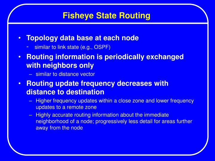 Fisheye State Routing