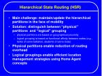 hierarchical state routing hsr