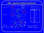 hsr physical multilevel partitions
